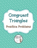 Triangle Congruence Worksheet - Practice Problems