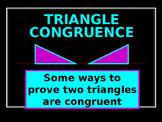 Power-Point:  Triangle Congruence using SSS SAS, ASA