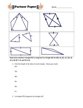 Triangle Congruency Partner Paper