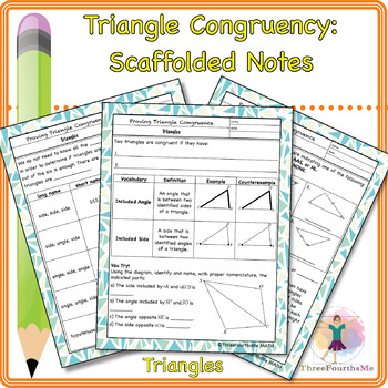 Triangle Congruency Scaffolded Notes