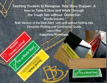 (PBIS)Triangle Desk Alert System(Distraction Free Student Assistance)(Rock&Roll)