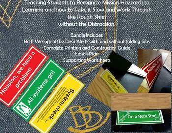 (PBIS) Triangle Desk Alert System (Distraction Free Student Assistance)(Space)