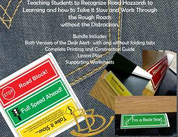 (PBIS)Triangle Desk Alert System(Distraction Free Student Assistance)(Traffic)