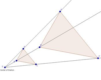 Triangle Dilation Using Geogebra