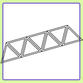 Triangle Double Lines Graphic Organizer Lines Template Clip Art