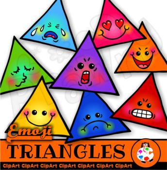 Triangle Emoticons Clip Art