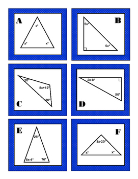 Triangle Equations Task Cards