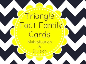 Triangle Fact Family Cards- Multiplication & Division