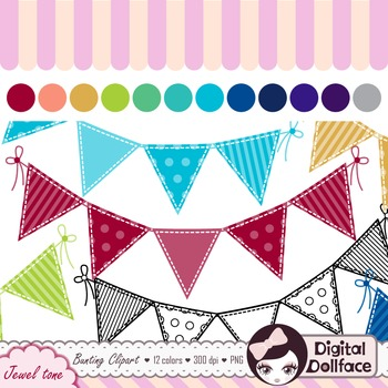 Triangle Flag Banner Clip Art / Bunting Clipart