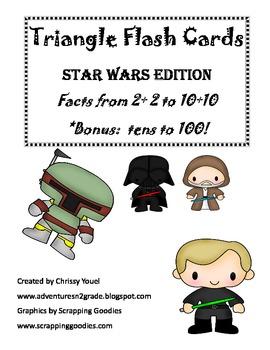 Triangle Flash Cards:  Star Wars Edition