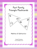 Triangle Flashcards - Fact Family Addition and Subtraction