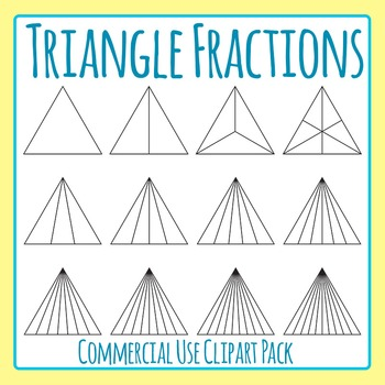 Triangle Fractions Clip Art Set for Commercial Use