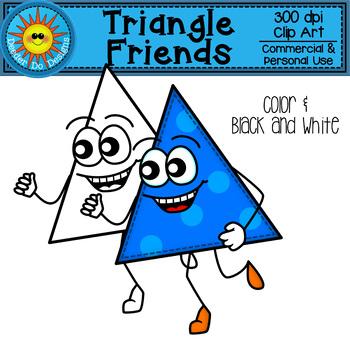 Triangle Friends Clip Art