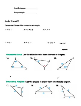 Triangle Inequalities Guided Notes