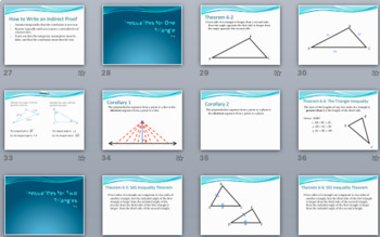 Triangle Inequalities - PowerPoint, Notes, Proofs, and Practice BUNDLE