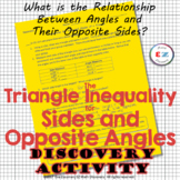 Triangle Inequalities for Sides and Angles Discovery Activity