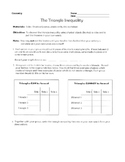 Triangle Inequality Activity