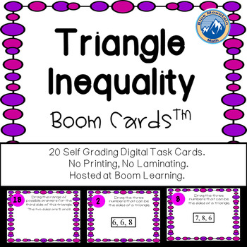 Triangle Inequality Boom Cards--Digital Task Cards