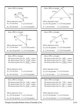 Triangle Inequality (Quiz)