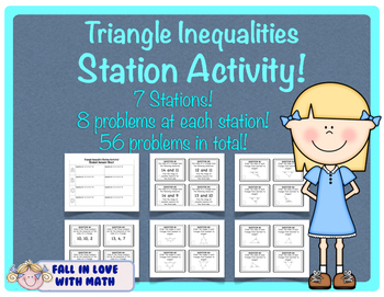 Triangle Inequality Station Activity (free preview)
