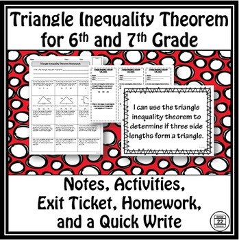 Triangle Inequality Theorem Notes and Activities