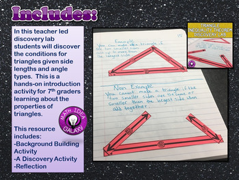 Triangle Inequality Theorem Activity Pack 7.G.A.2