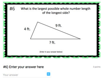 Triangle Inequality Theorem - (Google Form & Video Lesson!)