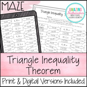 Triangle Inequality Theorem Maze By Amazing Mathematics Tpt