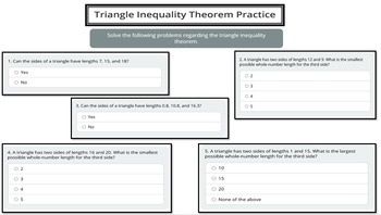Triangle Inequality Theorem (PowerPoint Lesson with Printables!)