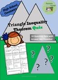 Triangle Inequality Theorem Quiz