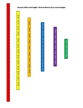 Triangle Inequality Theorem Task