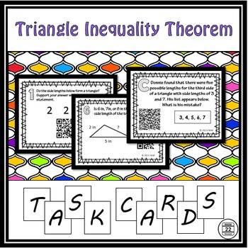 Triangle Inequality Theorem Task Cards