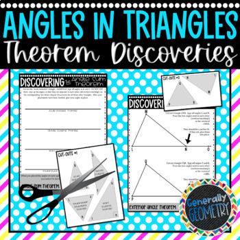 Triangle Interior Angle & Exterior Angle Sum Theorem Discovery; Geometry