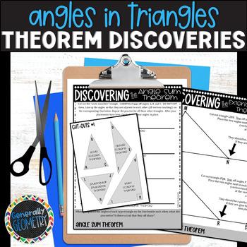 Triangle Interior Angle & Exterior Angle Sum Theorem Discovery; Geometry