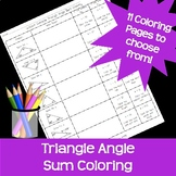 Triangle Interior Angle Sum Coloring Easter Spring Holiday