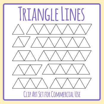 Triangle Lines Graphic Organizer Template Clip Art Set for Commercial use