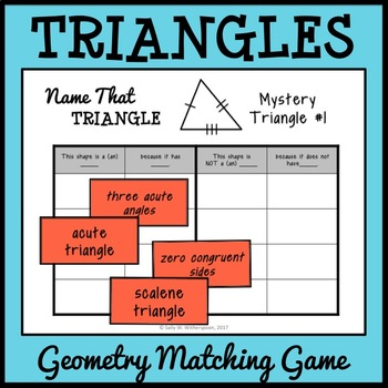 Triangle Matching Game, Geometry Number Sort, Includes 10 Versions!