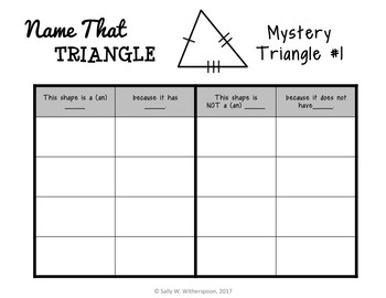 Classifying Triangles Game: Geometry Sort, Includes 10 Versions, 5.G.3, 5.G.4