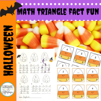 Halloween Math Computation: Triangle Math Fact Families Di