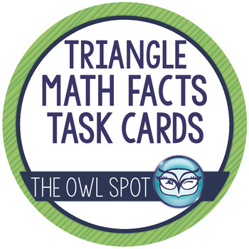 Triangle Math Facts Task Cards