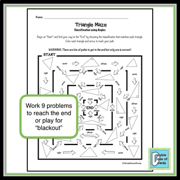 Triangle Maze - Classify by Angles