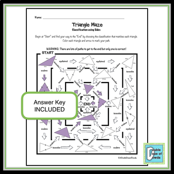 Triangle Maze - Classify by Sides