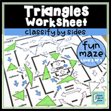 Triangle Worksheet - Classify by Sides | Distance Learning for Packets