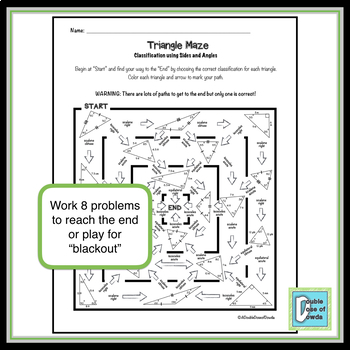 Triangle Maze - Classify by Angles & Sides