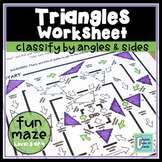 Triangle Worksheet - Classify by Angles & Sides