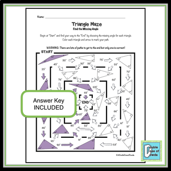 Triangle Maze - Find the Missing Angle