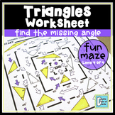 Triangle Worksheet - Find the Missing Angle