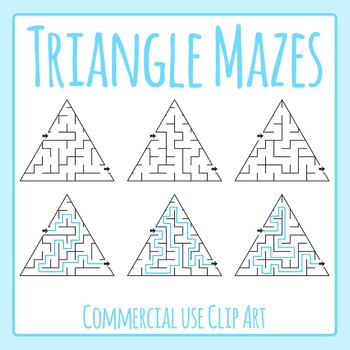 Triangle Mazes 2 Clip Art Set for Commercial Use