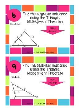 Triangle Midsegment Boom Cards--Digital Task Cards