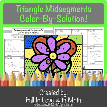 Triangle Midsegments Color-by-Number!